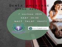 Deniz Amcazade bu gece Kemal Saraçoğlu Vakfı yararına piyano resitali verecek