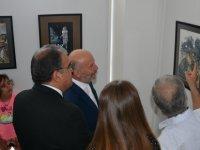 Muhammad Fazilov İle Murod Fazilov'un resim sergisi Çalışma ve Sosyal Güvenlik Bakanı Dr. Faiz Sucuoğlu tarafından açıldı