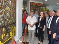 """""""Kazakistan Sanatçıları Resim Sergisi"""" Ekonomi ve Enerji Bakanı Hasan Taçoy tarafından açıldı"""