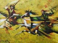 Kırgızistanlı ressamların 50 eserden oluşan resim sergisi, Maliye Bakanı Olgun Amcaoğlu tarafından açılacak.