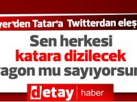 """Soyer'den Tatar'a twitter'dan eleştiri.. """"Bu ateş açtıktan sonra nişan alan tüfek atıcısı.. """""""