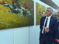Kırgızistanlı ressamların Kişisel Resim Sergisi, Maliye Bakanı Olgun Amcaoğlu tarafından açıldı
