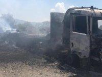 Esentepe'de bala yüklü kamyon yandı!