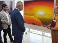 """""""Türkiye Sanatçıları Resim Sergisi"""" Ekonomi ve Enerji Bakanı Hasan Taçoy tarafından açıldı"""