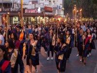 DAÜ 2018-2019 Akademik Yılı mezunları Fener Alayı ile kente veda etti