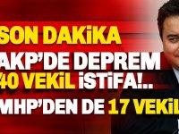 Son dakika: AKP'de, 40 milletvekili yeni parti için istifaya hazırlanıyor