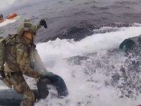 Denizaltıya uyuşturucu operasyonu (VİDEO)