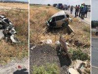 Lefkoşa-Gazimağusa anayolunda büyük kaza: Ağır yaralılar var!
