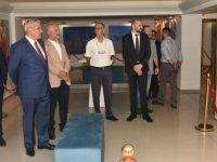 Türkmenistan ve Kazakistan sanatçıları resim sergileri ile 4 kişisel resim sergisi Hasan Taçoy tarafından açıldı
