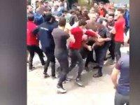 Trabzon'da 'Kürdistan' bayrağı açan turiste linç girişimi (Video)