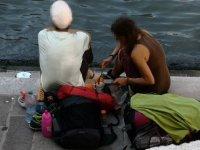 Venedik'te, tarihi köprüde kahve pişirmenin cezası 950 avro