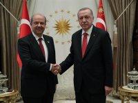 Erdoğan, KKTC Başbakanı Tatar ile ortak basın toplantısında konuştu