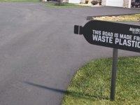 Plastik atıklardan asfalt yol üretildi