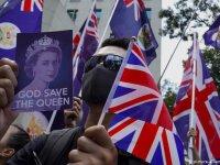 Hong Kong'da göstericiler İngiltere'den destek istedi