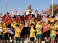 Eğitim yılının başlaması nedeniyle Akdoğan Dr. Fazıl küçük ilkokulu'nda tören