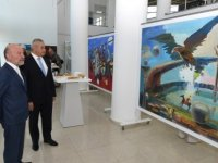 Kazakistanlı sanatçıların Kıbrıs Modern Sanat Müzesi için hazırladığı eserlerden oluşan iki sergi bugün açıldı
