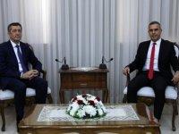 Uluçay Türkiye Milli Eğitim Bakanı Ziya Selçuk'u kabul etti