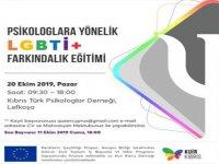 """Kuir Kıbrıs Derneği psikologlara yönelik """"LGBTİ+ Farkındalığı Eğitimi""""nin ikincisini düzenliyor"""