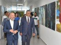 Taçoy, Kıbrıs Modern Sanat Müzesi'ndeki üç ayrı serginin açılışını yaptı