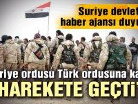 Suriye devlet haber ajansı: Suriye ordusu, Türk saldırısına karşı koymak üzere kuzeye hareket etmeye başladı