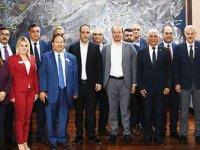 Koroya Belediyeler de katıldı..KKTC belediye başkanlarından Barış Pınarı Harekatı'na destek