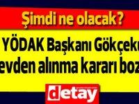 Eski YÖDAK Başkanı Gökçekuş'un görevden alınma kararı Yüksek İdare Mahkemesi'nce iptal edildi