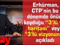 """Erhürman, CTP'nin bu  dönemde önüne koyduğu """"3'lü yol haritası"""" veya """"3'lü vizyonunu""""  açıkladı"""