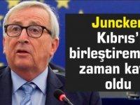 Juncker: Kıbrıs'ı birleştiremedik, zaman kaybı oldu