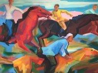 Kazakistanlı Sanatçılar Abzalov ile Agitayev'in Kişisel Resim Sergileri Pazartesi YDÜ'de Taçoy tarafından açılacak