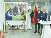 Sagin Abzalov ile Yasbi  Agitayev tarafından hazırlanan iki ayrı kişisel resim sergisi Taçoy tarafından açıldı