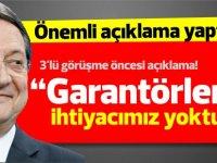 Anastasiadis: TC Dışişleri Bakanı Çavuşoğlu'nun son açıklamalarından dolayı üzüntü duyuyorum