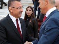 Türkiye Cumhuriyeti Cumhurbaşkanı Yardımcısı Oktay, Meclis Başkanı Uluçay'ı ziyaret etti