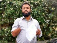Girne'de çalıştığı inşaatta elini kaybetti, yardım çağrısında bulundu