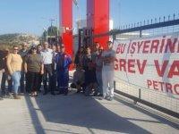 DAÜ BİR-SEN'den Petrol-İş grevine destek