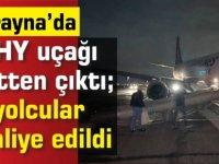 THY uçağı Ukrayna'da pistten çıktı; yolcular tahliye edildi