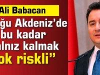 """Ali Babacan: """"Doğu Akdeniz'de bu kadar yalnız kalmak çok riskli"""""""