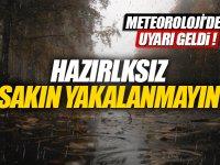 Meteoroloji sağanak yağmur için uyardı