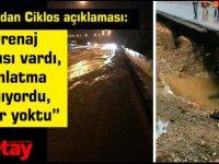 """Berova'dan Ciklos açıklaması:""""Drenaj sıkıntısı vardı, aydınlatma yanmıyordu, bariyer yoktu"""""""