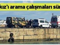 Girne Limanı'nda denize düşen Karakız'ı arama çalışmaları sürüyor