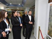 Baybars, KıbrısModern  Sanat Müzesi'nde 2 serginin açılışını yaptı