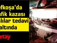 Lefkoşa'da Trafik kazası...yaralılar tedavi altında