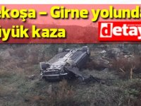 Lefkoşa - Girne Anayolu'nda Trafik Kazası: 1 Yaralı