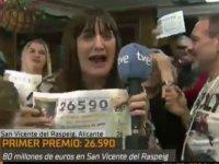 İspanya'da büyük ikramiyeyi kazandığını zanneden muhabir, canlı yayında 'Yarın işe gelmiyorum' dedi