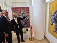 Amcaoğlu, Kıbrıs Modern Sanat Müzesi için hazırlanan sergilerin açılışını yaptı