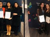 """""""Outstanding Pearson Learner Awards"""" ödül töreninde Yakın Doğu Koleji öğrencileri iki Dünya, iki de Avrupa birinciliği ödülü alarak fark yarattı"""