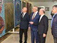 Taçoy  Kıbrıs Modern Sanat Müzesi için hazırlanan sergilerin açılışını yaptı