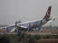 Uçakta Panik THY uçağı pistten çıktı