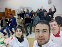 DAÜ Gastronomi ve Mutfak Sanatları programı öğrencilerinden atölye çalışması