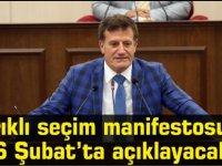 Arıklı seçim manifestosunu 6 Şubat'ta açıklayacak