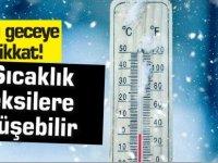Bu geceye dikkat, sıcaklık eksilere düşecek!